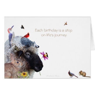 Each birthday is a stop on life's journey. card