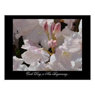 Each Day a New Beginning Rhododendrons Healing Posters