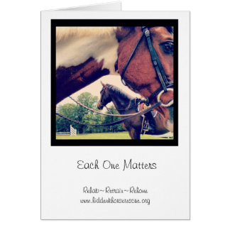 Each One Matters notecards Card