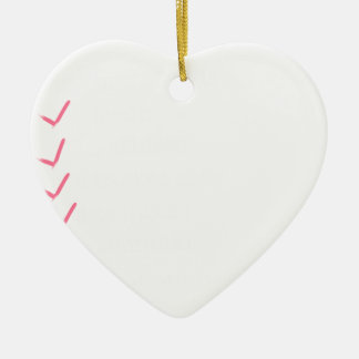 Each one of us is a brain, an athlete, a bas ceramic heart ornament