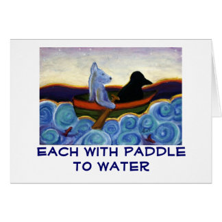 Each With Paddle to Water Card