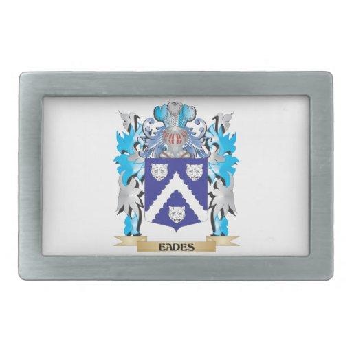 Eades Coat of Arms - Family Crest Rectangular Belt Buckles