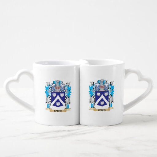 Eades Coat of Arms - Family Crest Lovers Mug Set