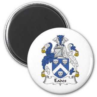 Eades Family Crest 2 Inch Round Magnet