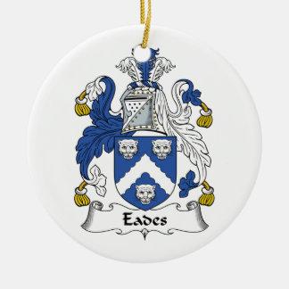 Eades Family Crest Round Ceramic Ornament