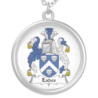 Eades Family Crest Round Pendant Necklace