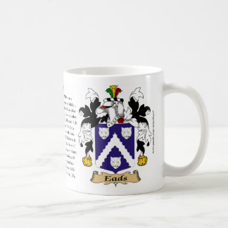 Eads, the Origin, the Meaning and the Crest Classic White Coffee Mug