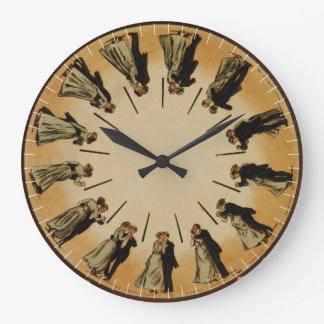 Eadweard Muybridge Couple Waltzing Phenakistoscope Wall Clock