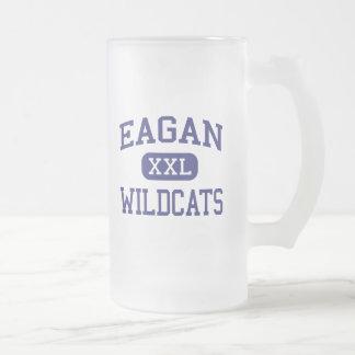 Eagan - Wildcats - High School - Eagan Minnesota Frosted Glass Beer Mug