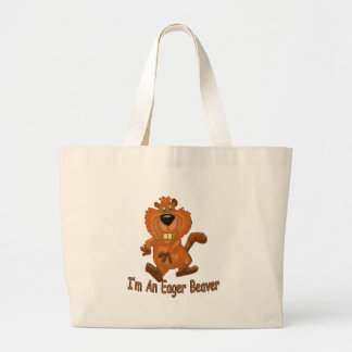 Eager Beaver Large Tote Bag