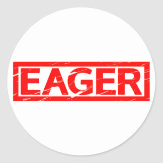 Eager Stamp Classic Round Sticker
