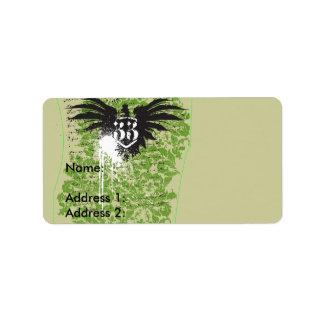 Eagle 33 étiquette d'adresse