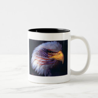 EAGLE & AMERICAN FLAG! 11oz MUG