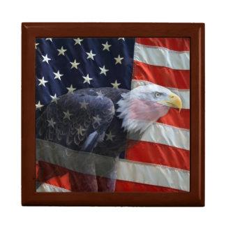 Eagle American Flag Gift Box