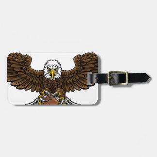 Eagle American Football Sports Mascot Luggage Tag