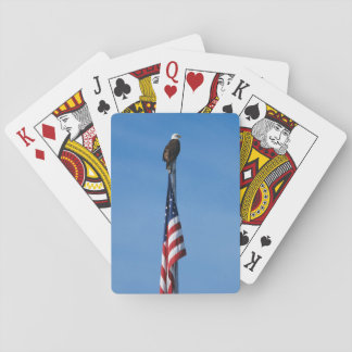 Eagle and American Flag - playing cards