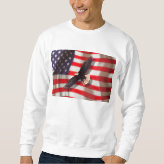 Eagle and American Flag Sweatshirt