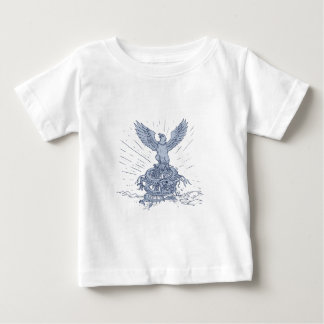 Eagle and Dragon Mountains Drawing Baby T-Shirt