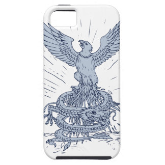 Eagle and Dragon Mountains Drawing Case For The iPhone 5
