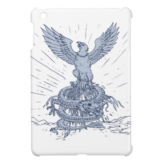 Eagle and Dragon Mountains Drawing iPad Mini Cases