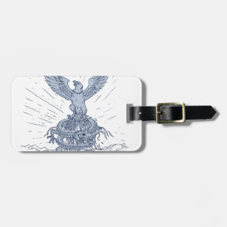Eagle and Dragon Mountains Drawing Luggage Tag