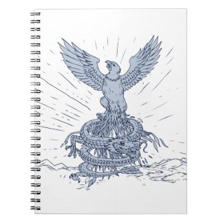 Eagle and Dragon Mountains Drawing Notebook