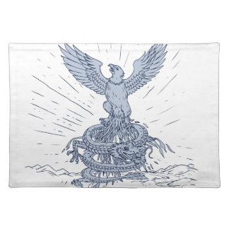 Eagle and Dragon Mountains Drawing Placemat