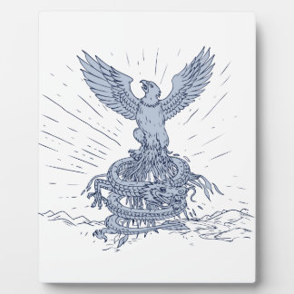 Eagle and Dragon Mountains Drawing Plaque