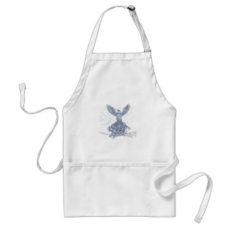 Eagle and Dragon Mountains Drawing Standard Apron