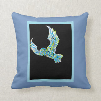 eagle and fire throw pillow