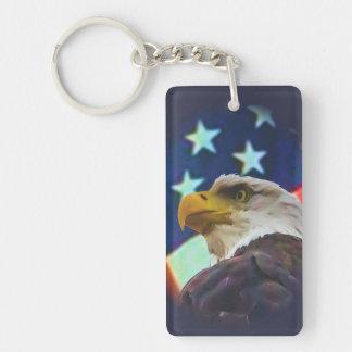 eagle and flag 1  key chain