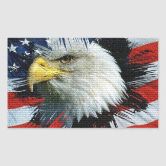 Eagle and Flag on an American Foundation Sticker