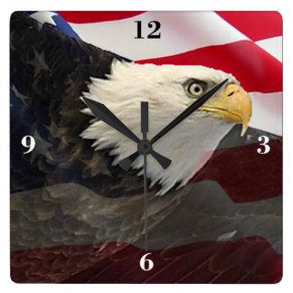 Eagle and Flag Wallclocks