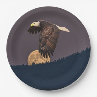 EAGLE AND MOON 9 INCH PAPER PLATE