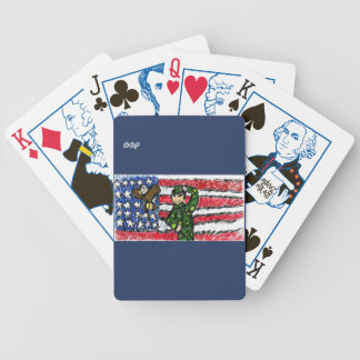 Eagle and solider bicycle playing cards