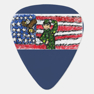 Eagle and solider guitar pick