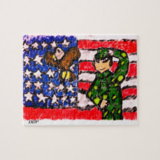 Eagle and solider jigsaw puzzle