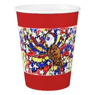 eagle and star paper cup