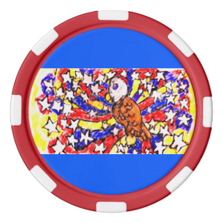eagle and star poker chips