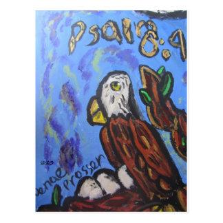 Eagle art postcard