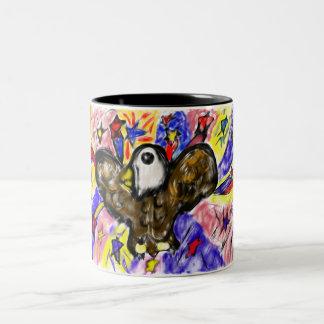 eagle art three Two-Tone coffee mug