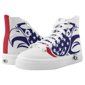 Eagle Bald American Flag