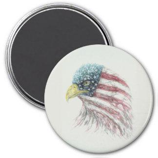 eagle,bald eagle,eagle with american flag magnet