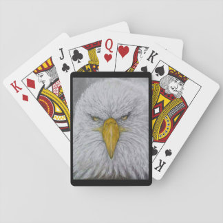 eagle,bald eagle,eagle with american flag playing cards