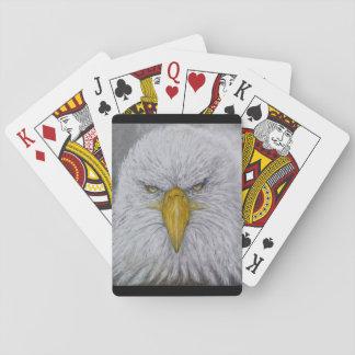 eagle,bald eagle,eagle with american flag poker deck