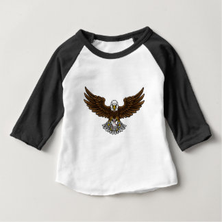 Eagle Baseball Sports Mascot Baby T-Shirt