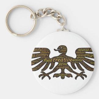 Eagle Basic Round Button Keychain