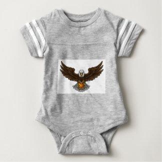 Eagle Basketball Sports Mascot Baby Bodysuit