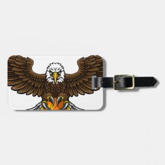 Eagle Basketball Sports Mascot Luggage Tag