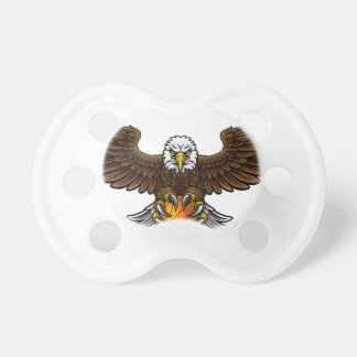 Eagle Basketball Sports Mascot Pacifier